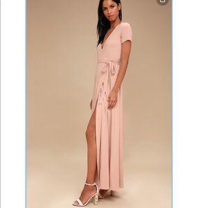 Lulus Evolve Sz Medium Wrap Maxi Dress